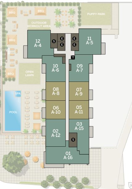Azure 13-33rd Floor | Individual Unit Floor Plans