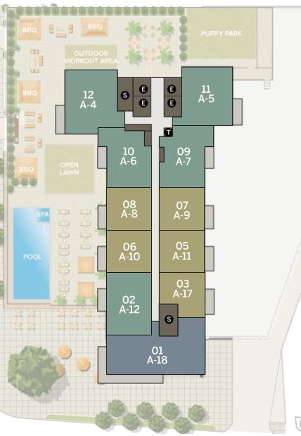 Azure 34-40th Floor | Individual Unit Floor Plans