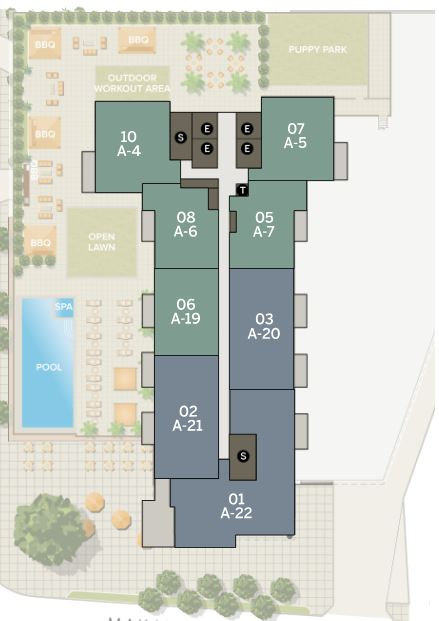 Azure 41st Floor | Individual Unit Floor Plans