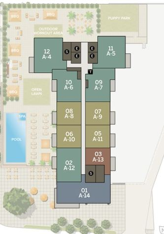 Azure 12th Floor | Individual Unit Floor Plans