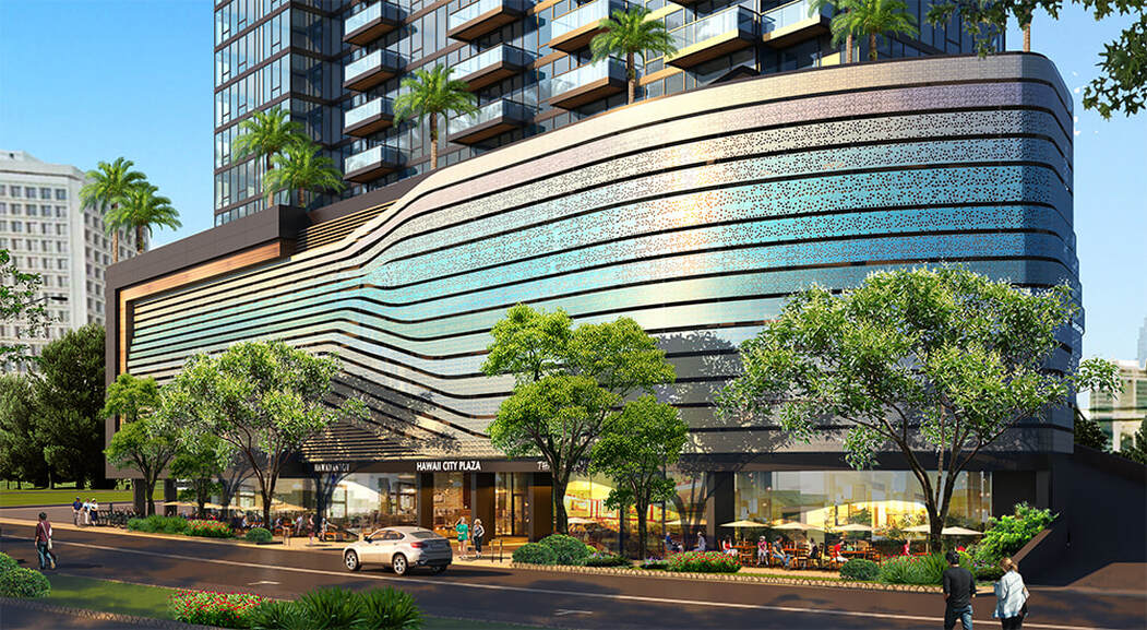 Hawaii City Plaza Commercial Area Artist Rendering